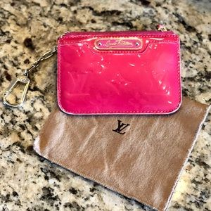 Louis Vuitton Coin Purse Pochette Cles Pink Vernis